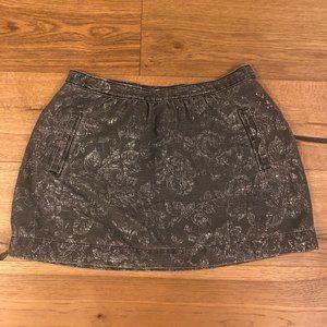 Madewell Grey Denim Floral Skirt